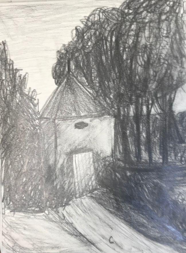 Cécile le cabanon 1 crayon 12-10-2019