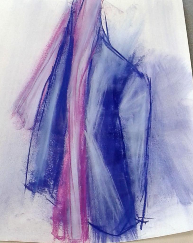 Composition abstraite pastel gouaché 16-12-2017