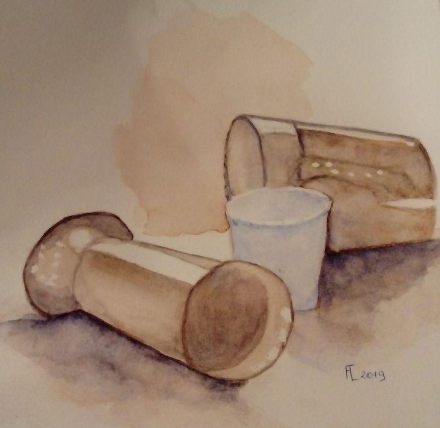 Françoise les tasses aquarelle 30-11-2019
