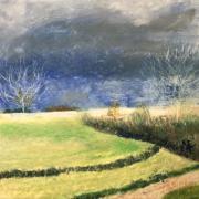 Franc oise paysage de l astarac pastel gras 03 2021