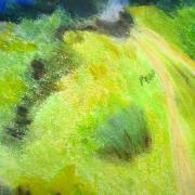 Françoise paysage pastel sec 25-09-2018