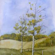 Marie jo arbres b aquarelle 03 2020 2020