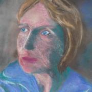 Marie-Jo autoportrait pastel sec 02-2019