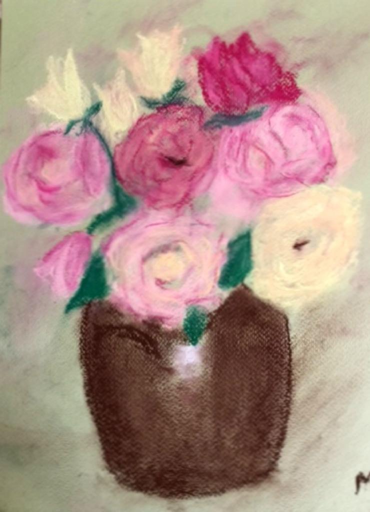 Marie-Jo Bouquet pastel sec 27-05-2017