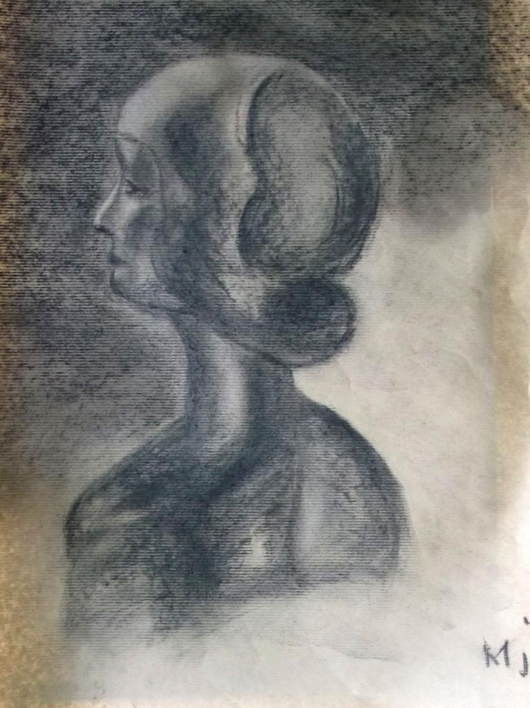Marie-Jo buste au fusain 06-2015