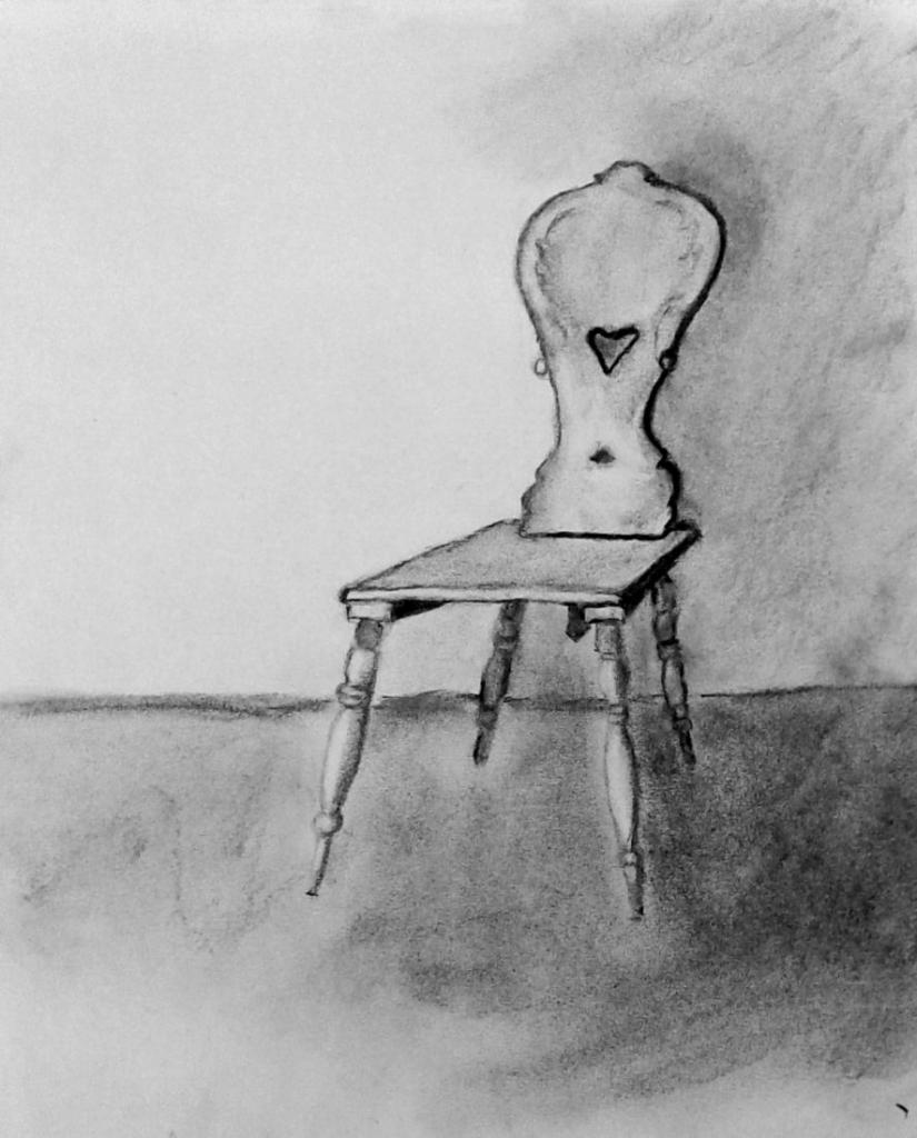 Marie-Jo Chaise sculptée fusain 11-2015