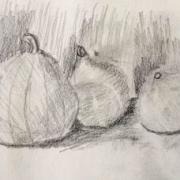Marie-Jo courges crayon 14-10-2017