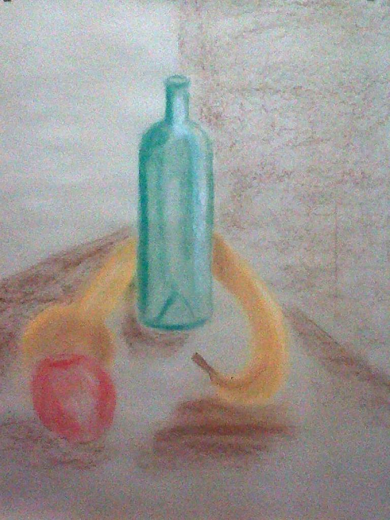 Marie-Jo fruits et bouteille pastel sec 23-11-2013