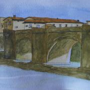 Marie jo pont de limoux croquis aquarelle 05 2020