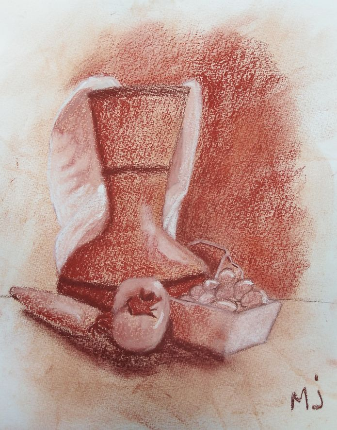 Marie-Jo vase kaki et raisin sanguine 18-11-2018