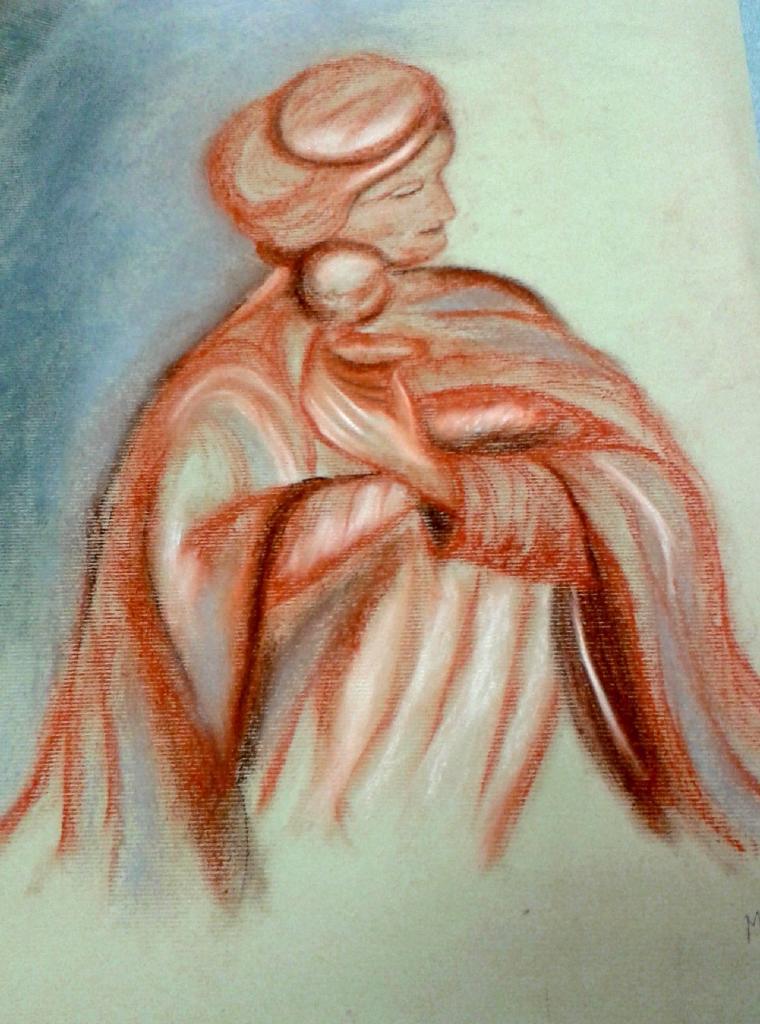 Marie-Jo vierge pastel sec 02-2016