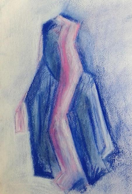 Martine composition abstraite pastel gouaché 16-12-2017