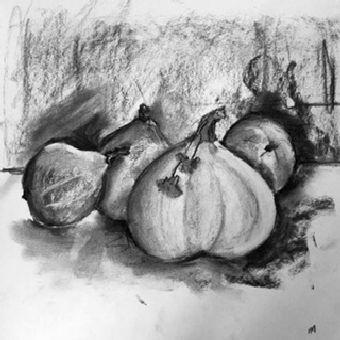 Martine courges fusain 14-10-2017