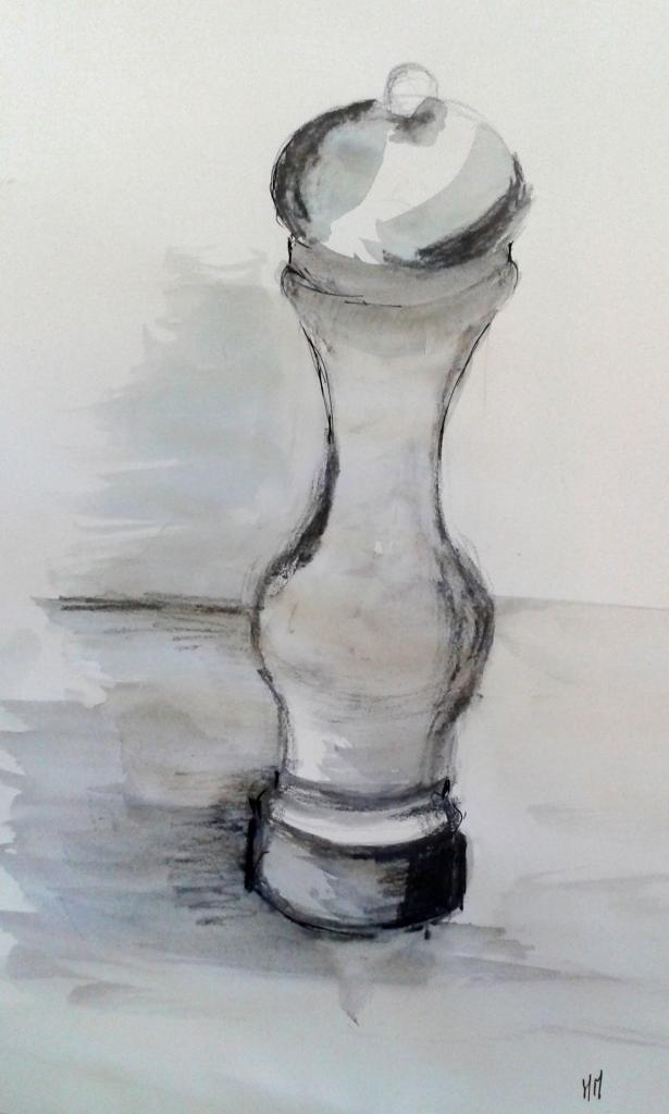 Martine encre et crayon aquarellable 10-01-2015