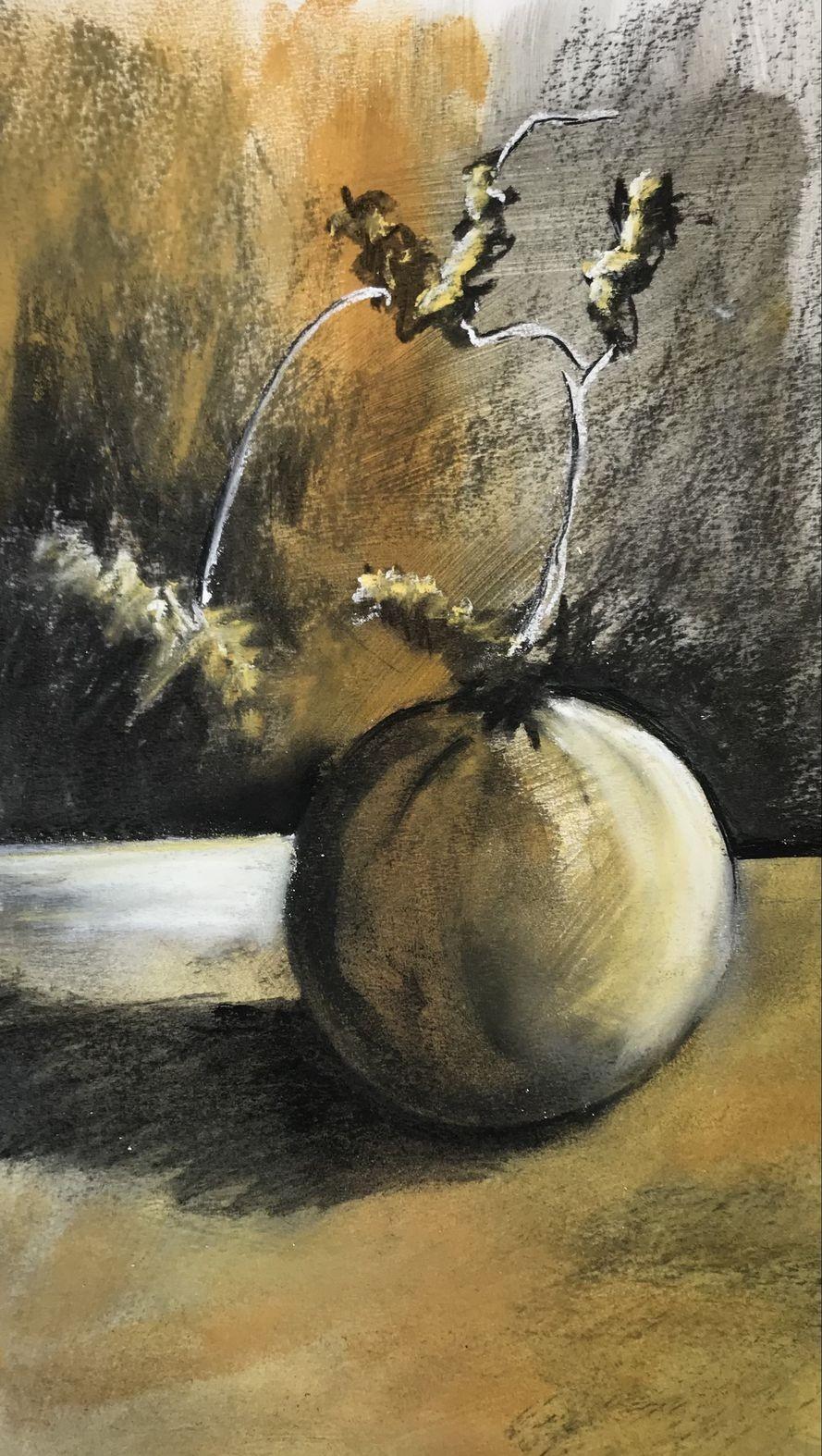 Martine melon fusain et pastel mouille 13 10 2020