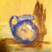 Martine vase bleu acrylique 14-12-2015