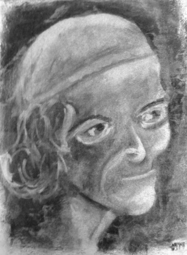 Martine Voltaire fusain 23-01-2016