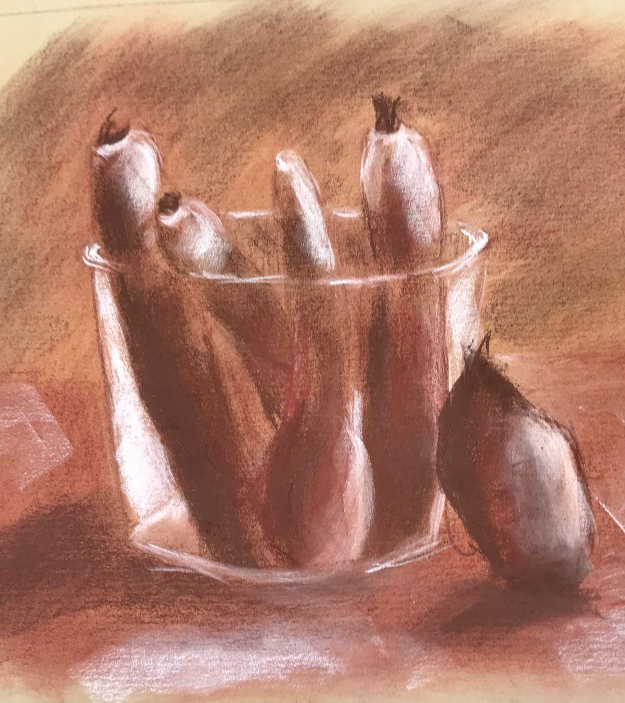 Michèle carottes et saladier sanguine 19-10-2019
