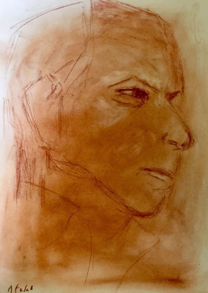 Michèle portrait sanguine 11-03-2017