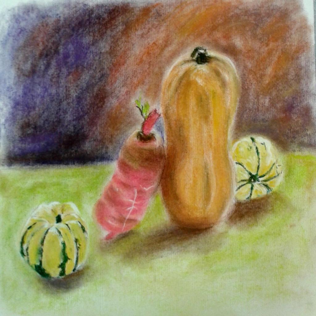 Michelle courges et radis pastel sec 29-10-2016