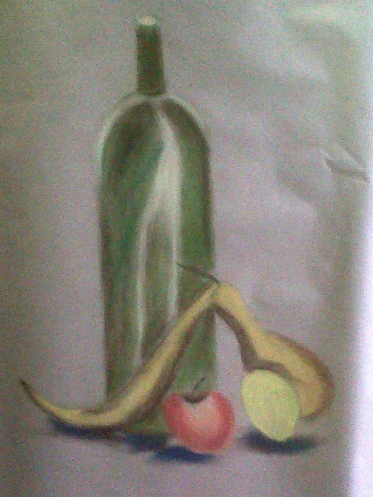 Michelle fruits et bouteille pastel sec 23-11.2013