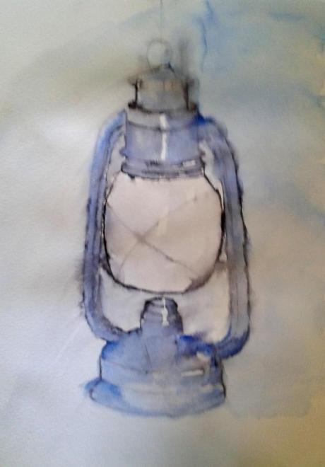 Michelle lampe étape 2 aquarelle 03-12-2016