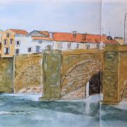Michelle pont de limoux croquis aquarelle 05 2020