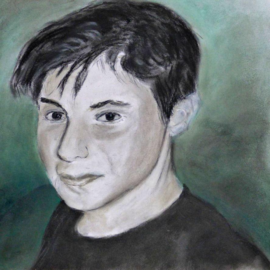 Michelle portrait jeune garçon pastel sec 20-02-2016