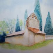 Monique c chapelle de lasseube aquarelle 04 2021