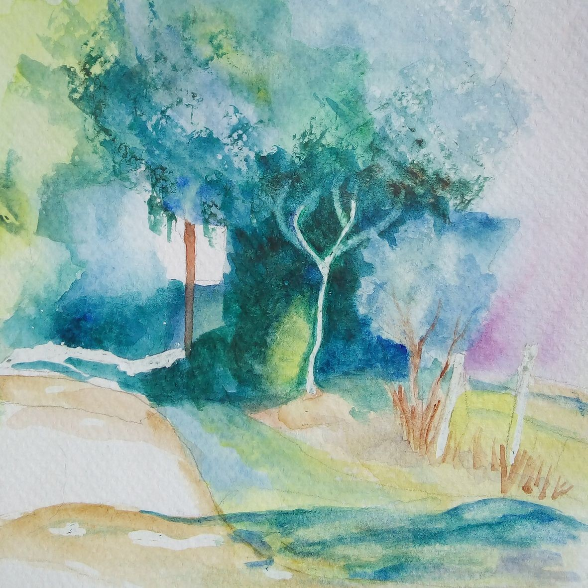 Monique c chemin creu aquarelle 04 2021