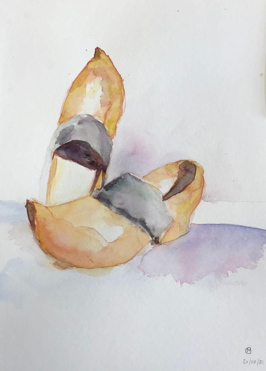 Monique c les sabots aquarelle 03 2021
