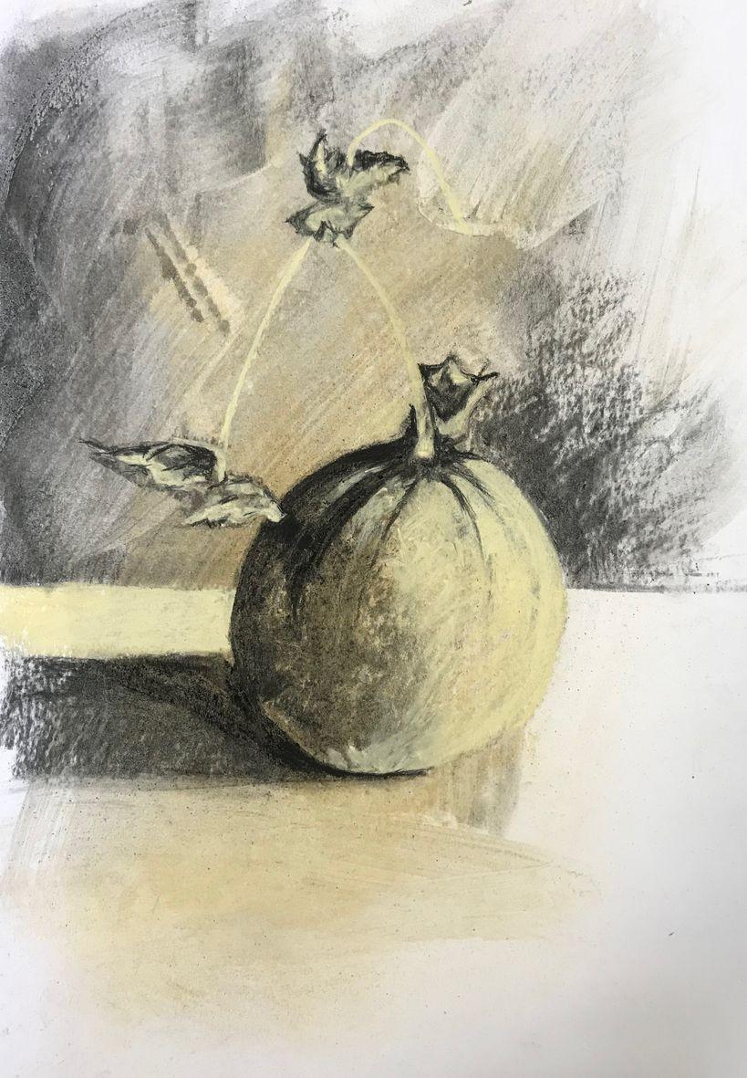 Monique c melon fusain mouille et pastel sec 10 10 2020