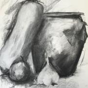 Monique nm pot et courge 3 fusain 28-09-2019
