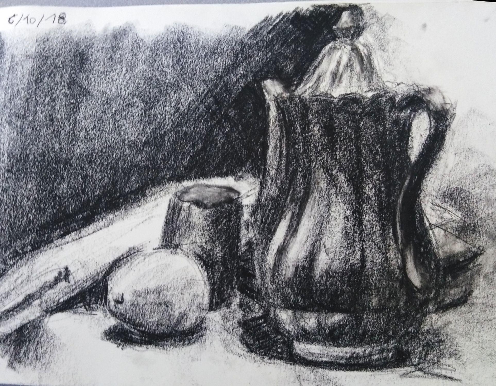 Nicole cafetière et citron pièrre noire 06-10-2018