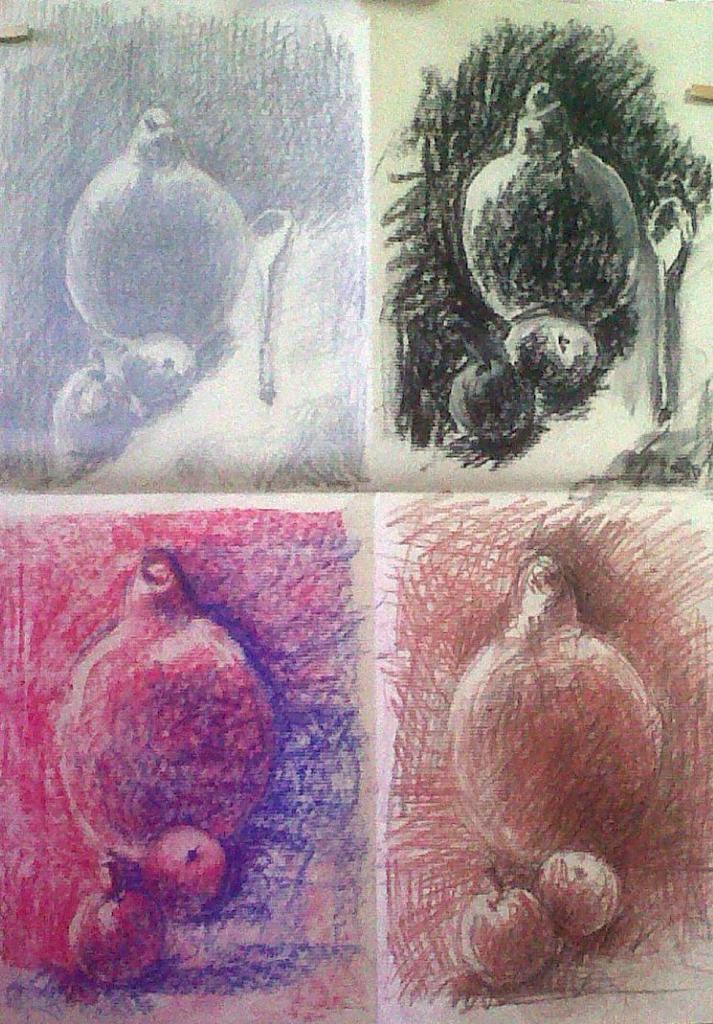 Nicole crayon, fusain, pastel sec et sanguine 12 -2013 et 01-2014