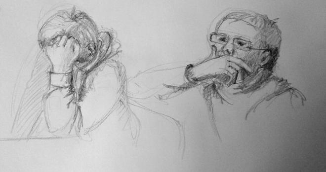 Nicole croquis portrait graphite 02-04-2016