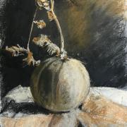 Nicole melon fusain et pastel mouille 13 10 2020