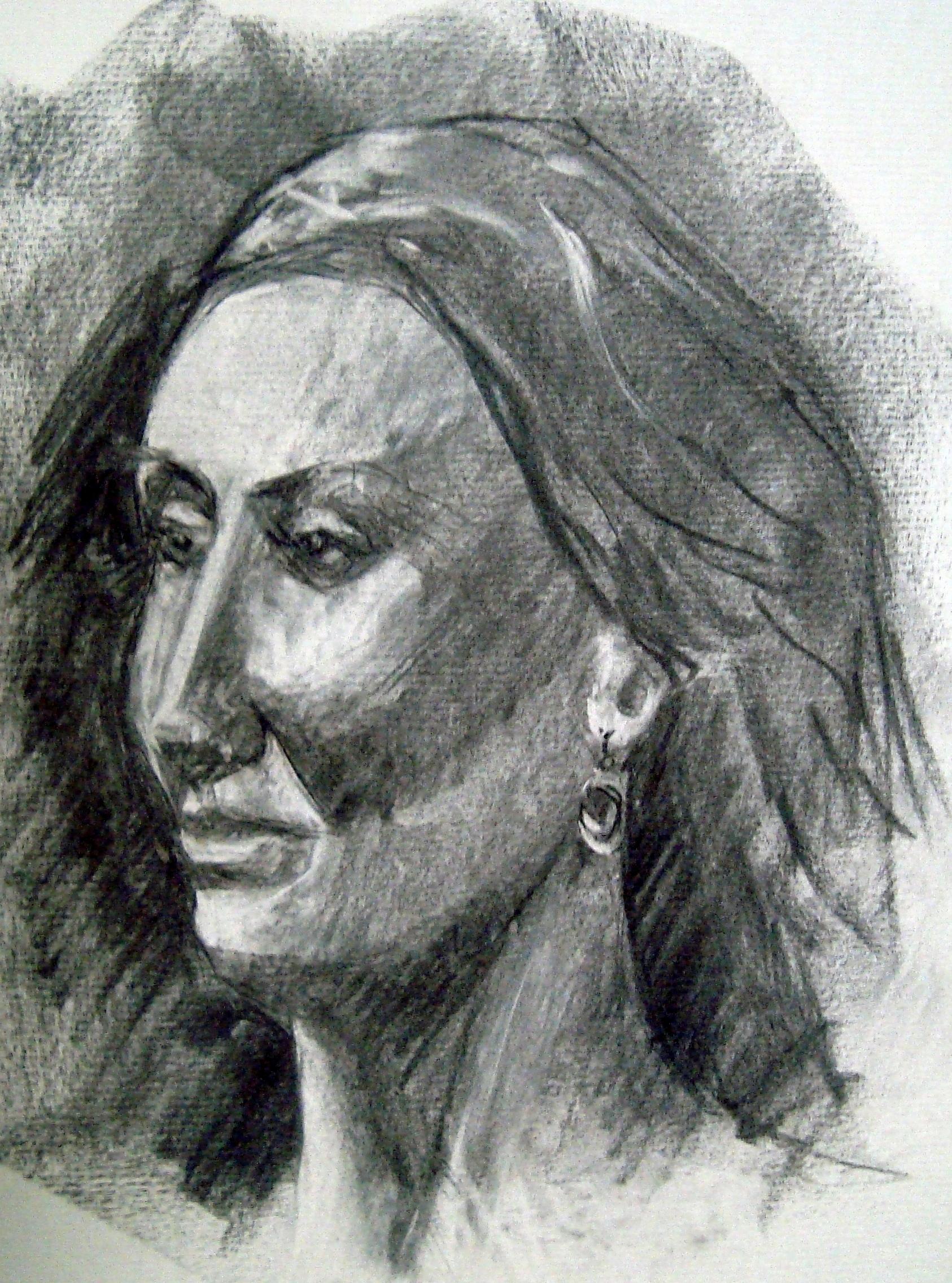 Nicole Patricia portrait fusain 20.04.2019