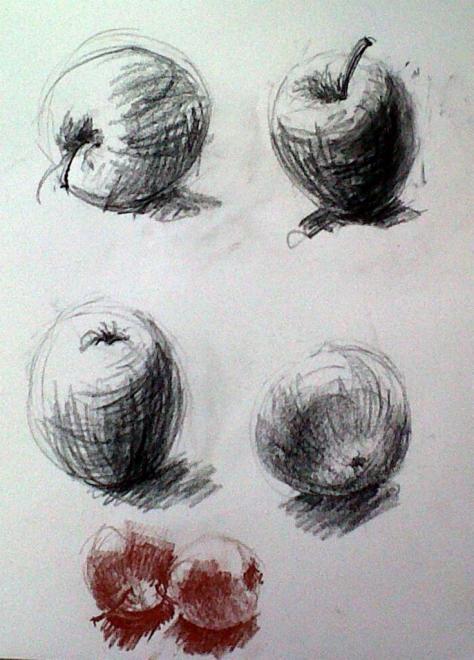 Nicole pommes1 pierre noire et sanguine 02-02-2013