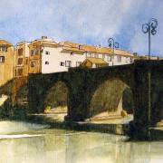 Nicole pont de limoux croquis aquarelle 05 2020