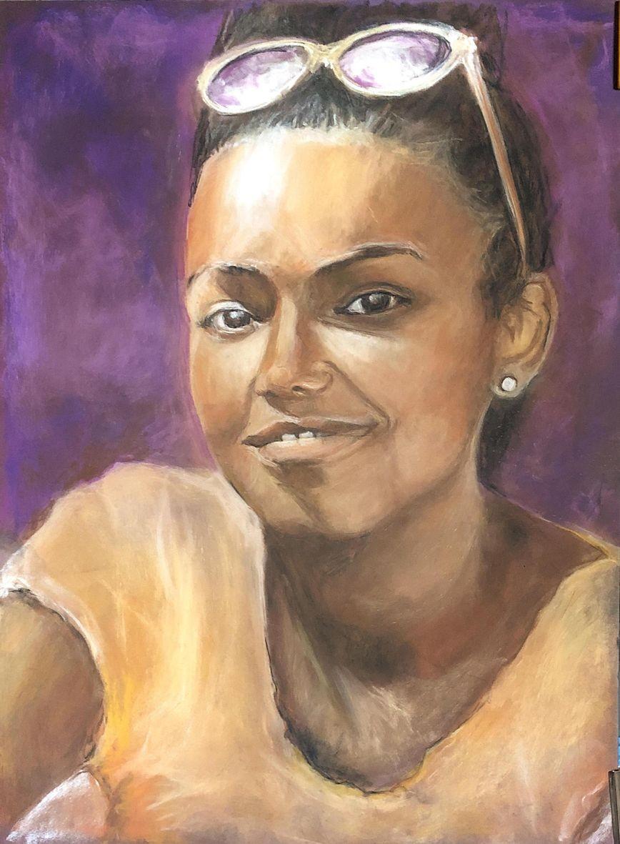 Nicole portrait 2 pastel sec 11 2020