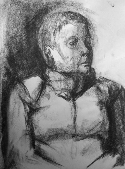 Nicole portrait fusain 02-04-2016