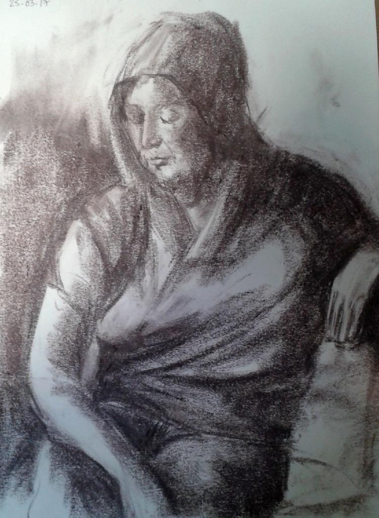 Nicole portrait pastel sec 25-03-2017