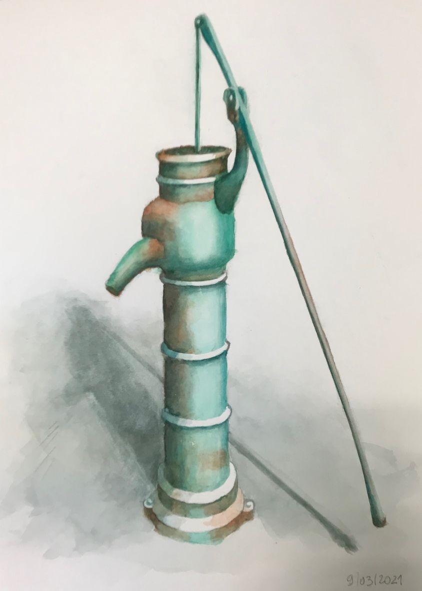 Nicole vieille pompe 1 aquarelle 03 2021