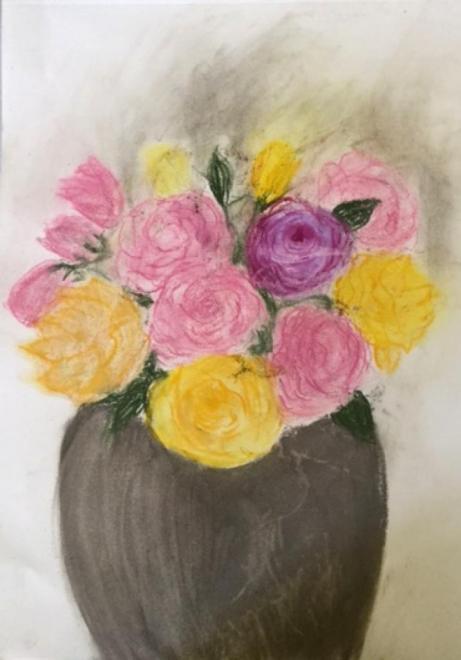 Rose-Marie bouquet pastel sec 27-05-2017