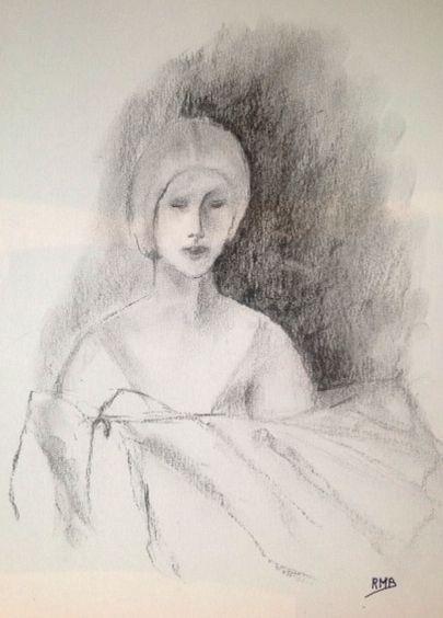 Rose-Marie buste fusain 04-2016