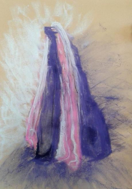 Rose Marie composition abstraite pastel gouaché16-12-2017