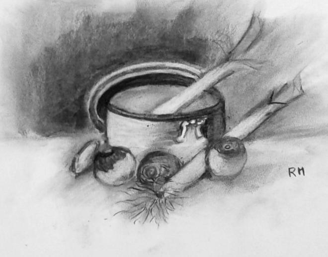 Rose-Marie la soupe fusain 14-02-2015
