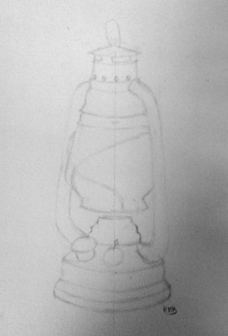 Rose-Marie lampe étape 1 crayon 26-11-2016