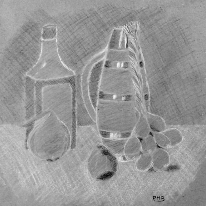 Rose-Marie nm pierre noire et crayon blanc 19-11-2016